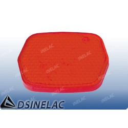 REFLECTOR HEXAGONAL ROJO